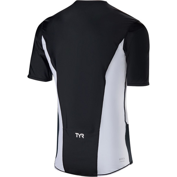 TYR Men's Competitor Short Sleeve Tri Top - Back