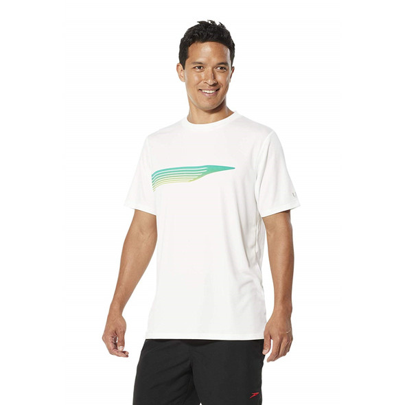 Speedo Men's Graphic Short Sleeve Swim Tee