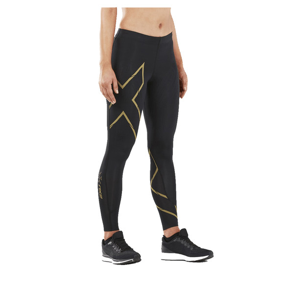 2XU Women's MCS Run Compression Tights - Black/Gold