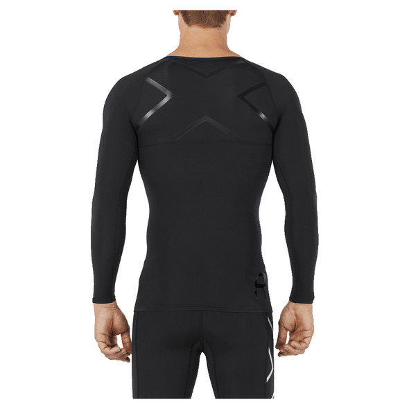 2XU Men's Refresh Recovery Compression Long Sleeve Top - Back