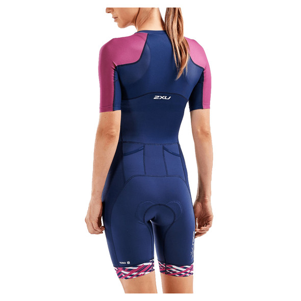 2XU Women's Compression Sleeved Trisuit - Back