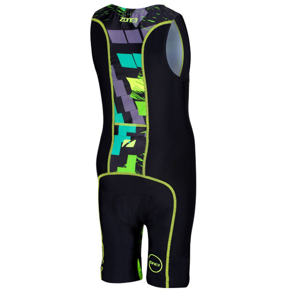 Zone3 Kid's Digital Print Tri Suit - Back