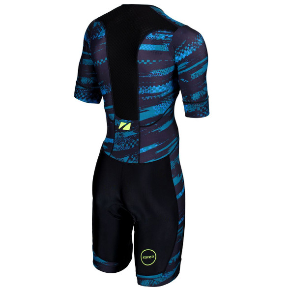Zone3 Men's Activate Plus Stealth Speed Short Sleeve Tri Suit - Back