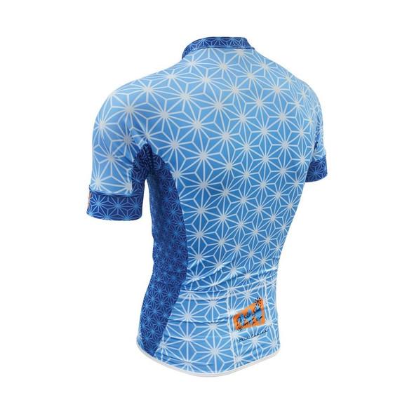 DeSoto Men's Skin Cooler Full Zip Short Sleeve Tri Top - Back