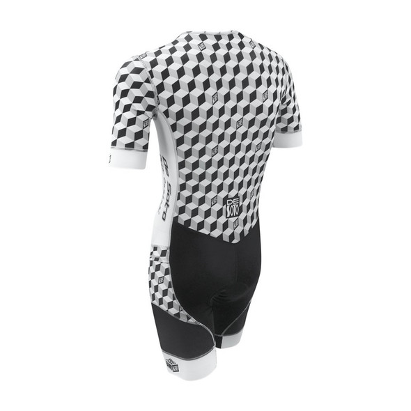 DeSoto Men's Riviera Flisuit Sleeved Tri Suit - Back