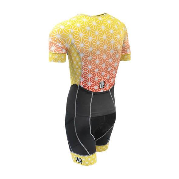 DeSoto Men's Forza Flisuit Sleeved Tri Suit - Back