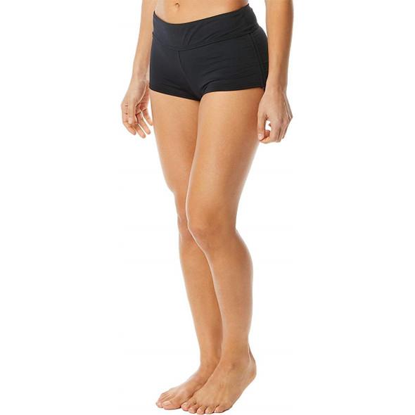 TYR Women's Solid Della Boyshort Swim Bottom