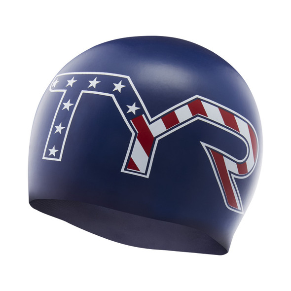 TYR Stars and Stripes Silicone Swim Cap