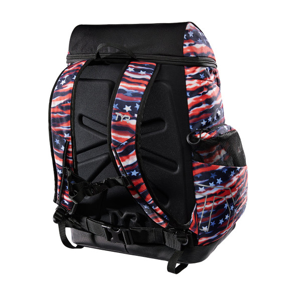 TYR Alliance 45L All American Print Backpack - Back