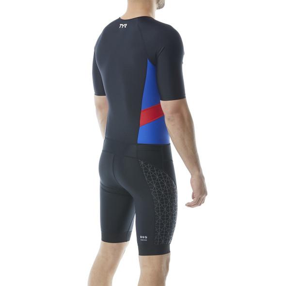 TYR Men's Competitor Short Sleeved Speedsuit - Back