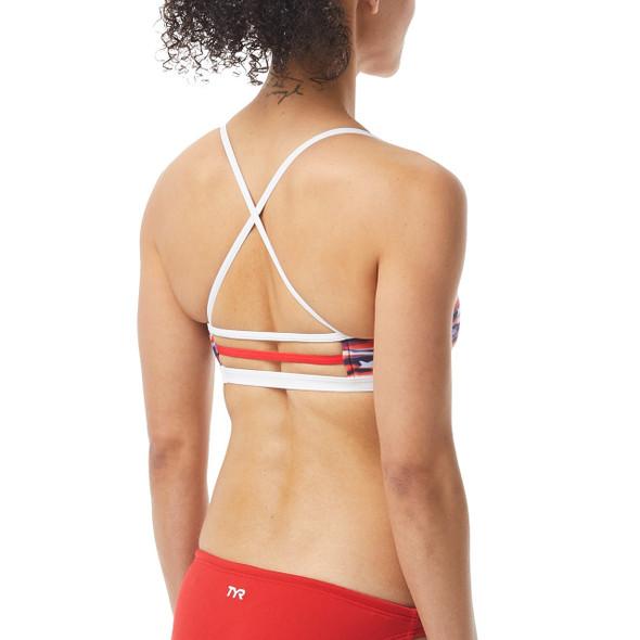 TYR Women's All American Trinity Bikini Top - Back