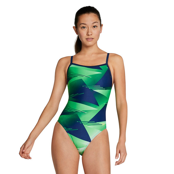 Speedo Women's Lane Game Flyback Swimsuit