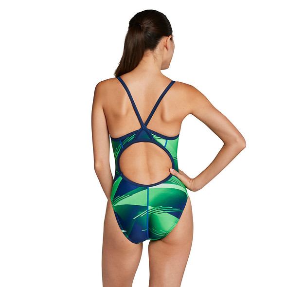 Speedo Women's Lane Game Flyback Swimsuit - Back