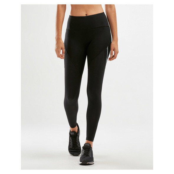 2XU Women's Run Mid-Rise Dash Line Compression Tights