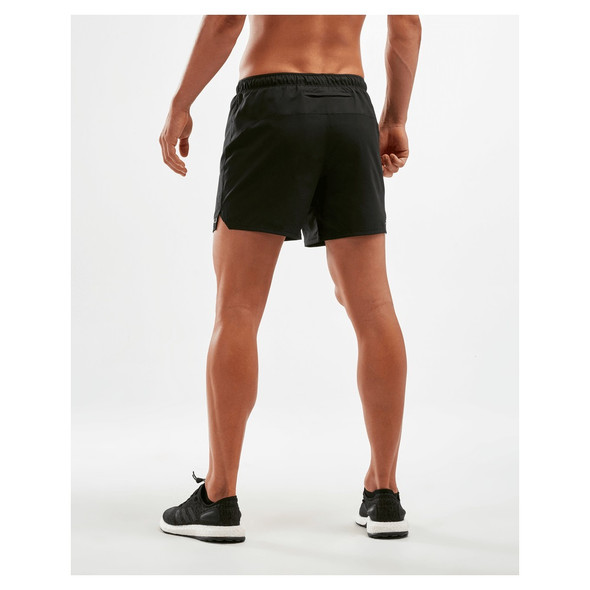 "2XU Men's XVENT 5"" Run Short with Brief - Back"