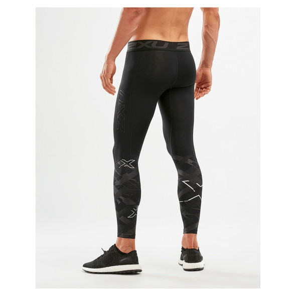 2XU Men's Accelerate Compression Tights with Storage - Back