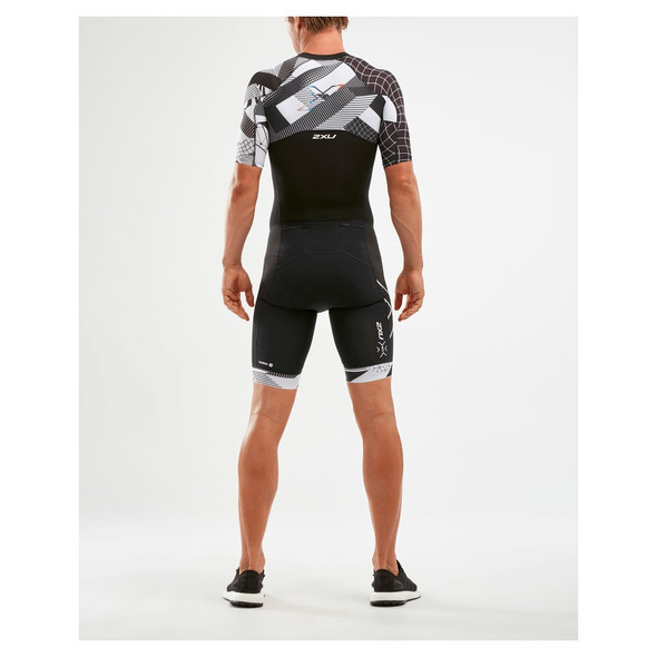 2XU Men's Compression Full Zip Sleeved Trisuit - Back
