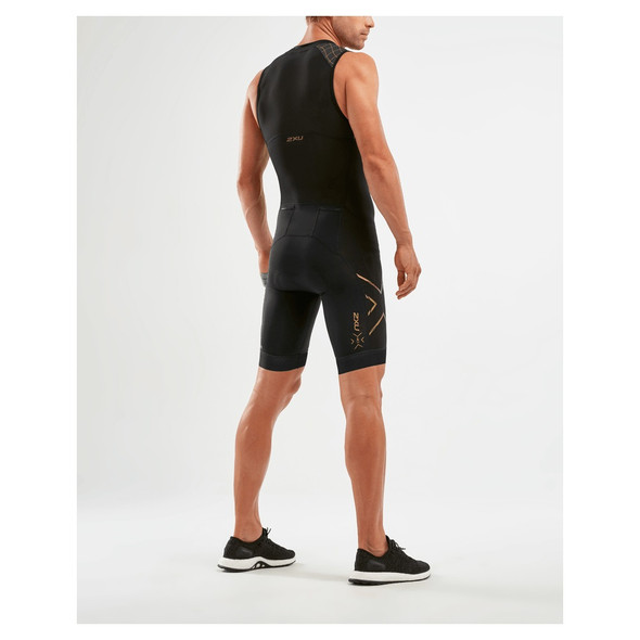 2XU Men's Compression Full Zip Trisuit - Back