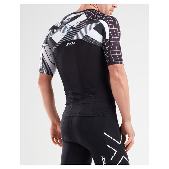 2XU Men's Compression Sleeved Tri Top - Back