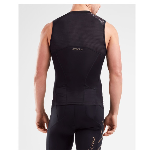 2XU Men's Compression Tri Singlet - Back