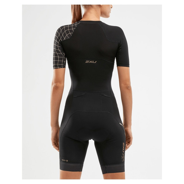 2XU Women's Compression Sleeved Tri Suit - Back