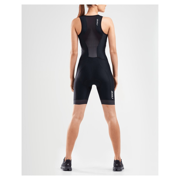 2XU Women's Perform Front Zip Tri Suit - Back