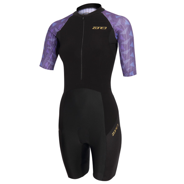 Zone3 Women's Lava Long Distance Short Sleeve Tri Suit