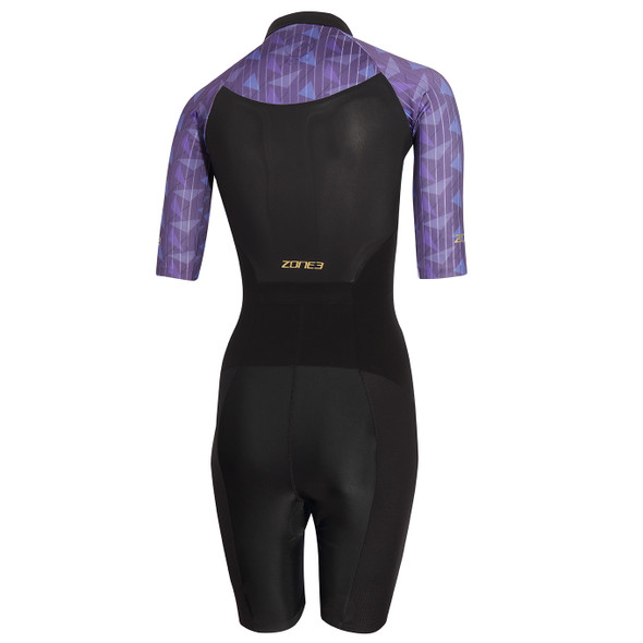 Zone3 Women's Lava Long Distance Short Sleeve Tri Suit - Back