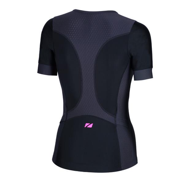 Zone3 Women's Aquaflo Plus Short Sleeve Tri Top - Back