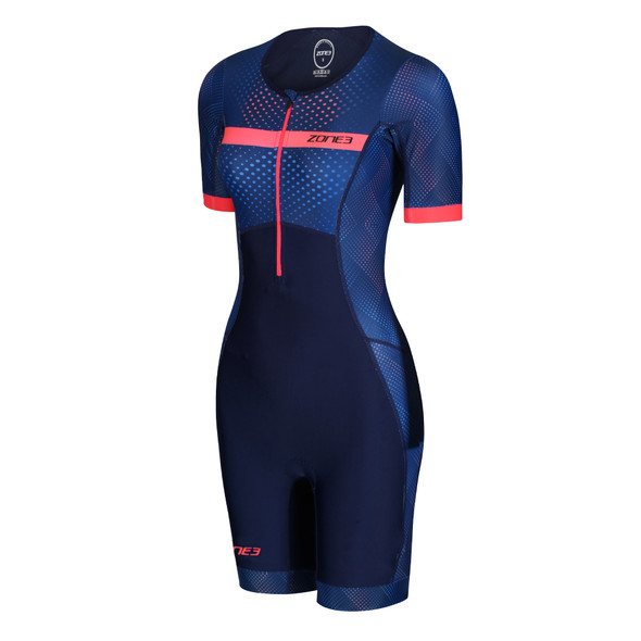 Zone3 Women's Activate Plus Sublimated Short Sleeve Tri Suit