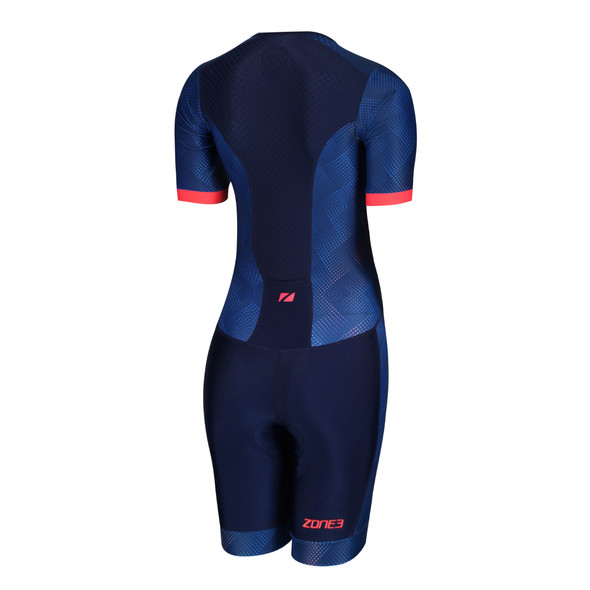 Zone3 Women's Activate Plus Sublimated Short Sleeve Tri Suit - Back