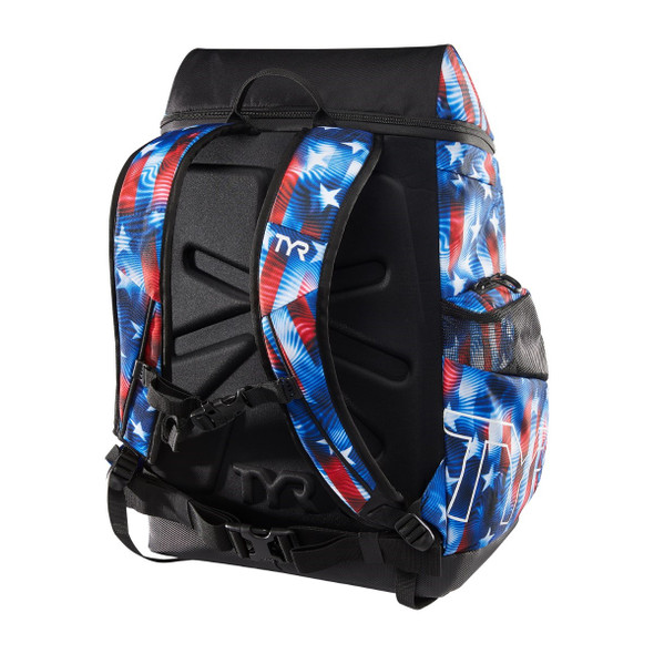 TYR Alliance 45L USA Genesis Print Backpack - Back