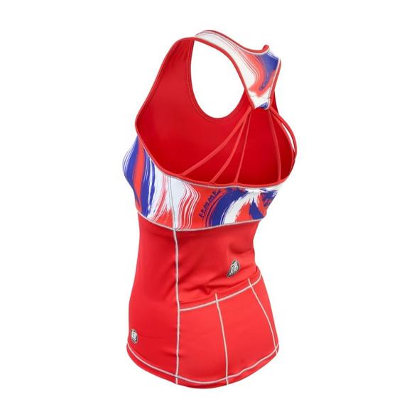 De Soto Women's Femme Sprinter Tri Top - Back
