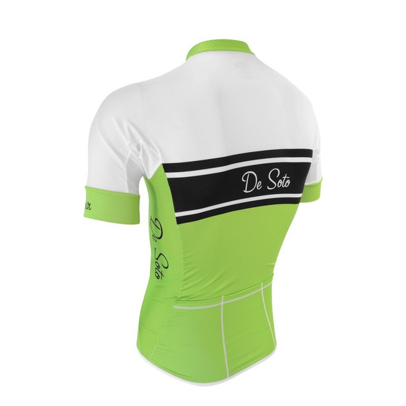 DeSoto Men's Skincooler Short Sleeved Full Zip Tri Top - Back