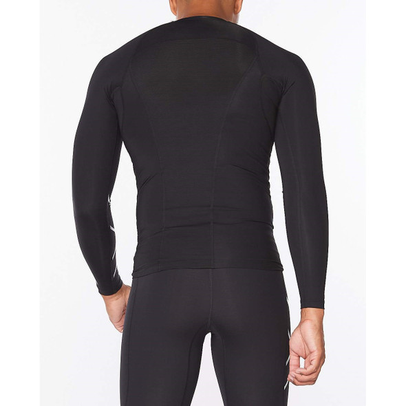 2XU Men's Core Compression Long Sleeve Top - Back