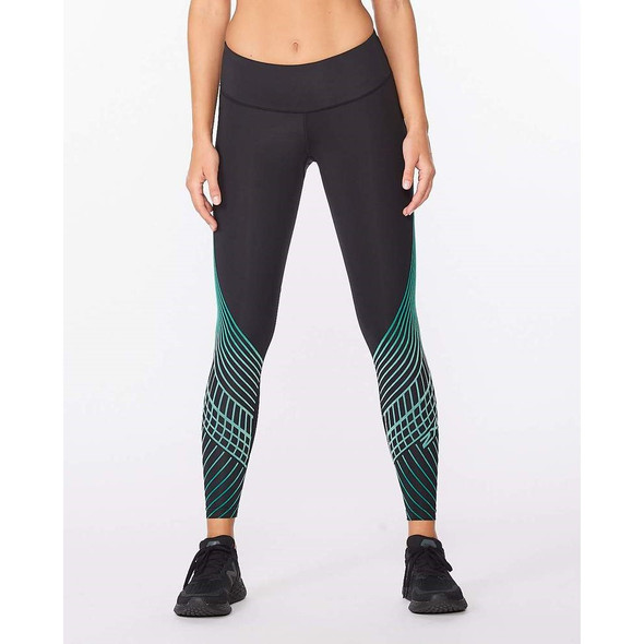 2XU Women's Motion Texture Mid-Rise Compression Tight