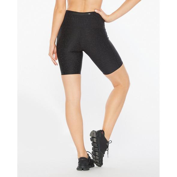 2XU Women's Aero Reflect Hi-Rise Compression Short - Back