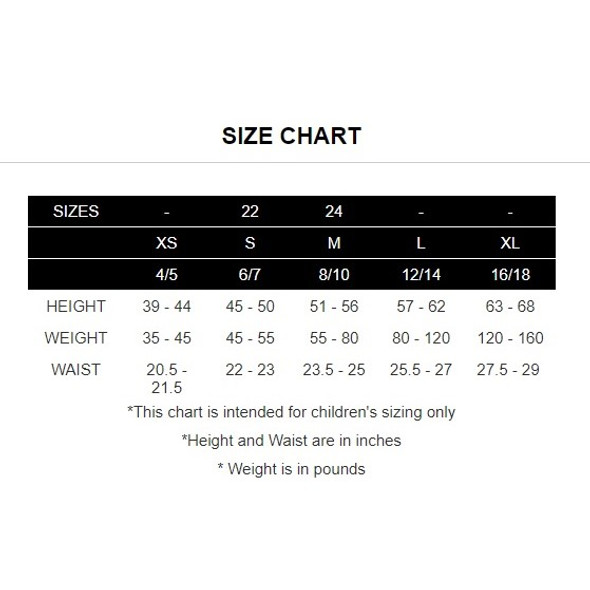 TYR Boys USA Rashguard - Size Guide