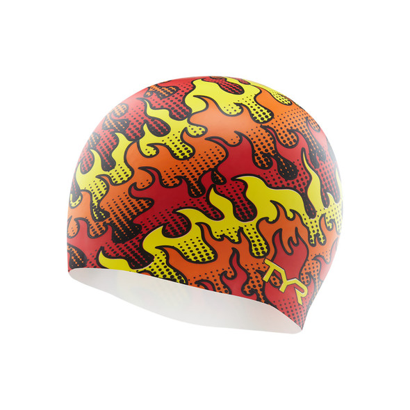 TYR Flame Silicone Swim Cap