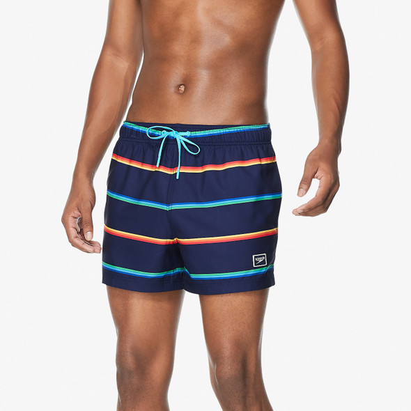 "Speedo Men's Vibe Stripe Volley 14"" Swim Short"