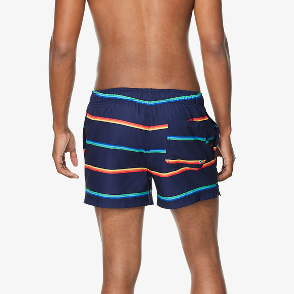 "Speedo Men's Vibe Stripe Volley 14"" Swim Short - Back"