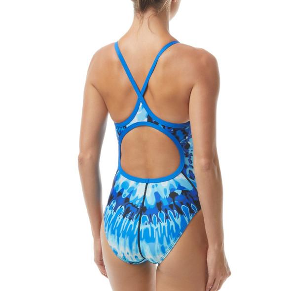 TYR Women's Bohemian Durafast Elite Diamondfit Swimsuit - Back