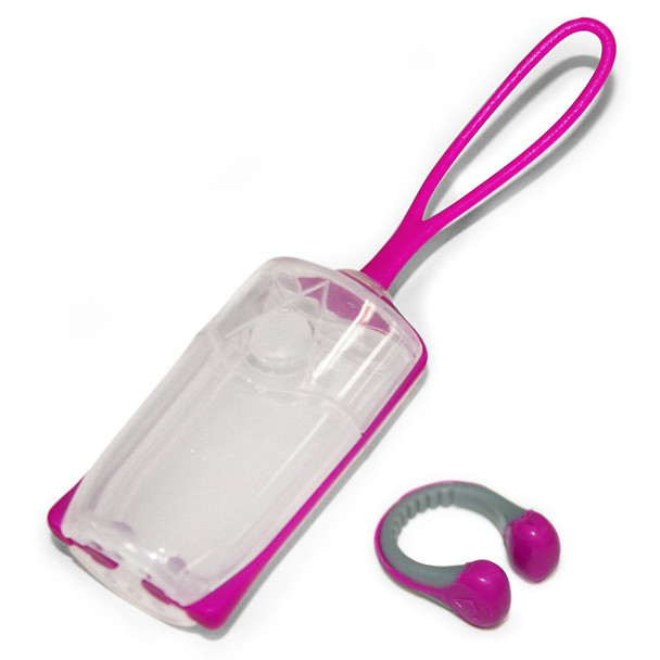 Aqua Sphere Silicone Nose Clip With Carrying Case