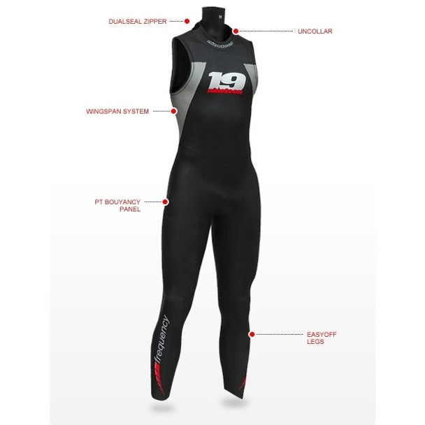 Nineteen Mens Frequency Sleeveless Wetsuit