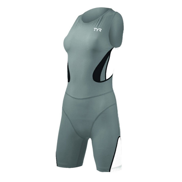 TYR Women's Carbon Zipper Back Short John Trisuit W/Pad