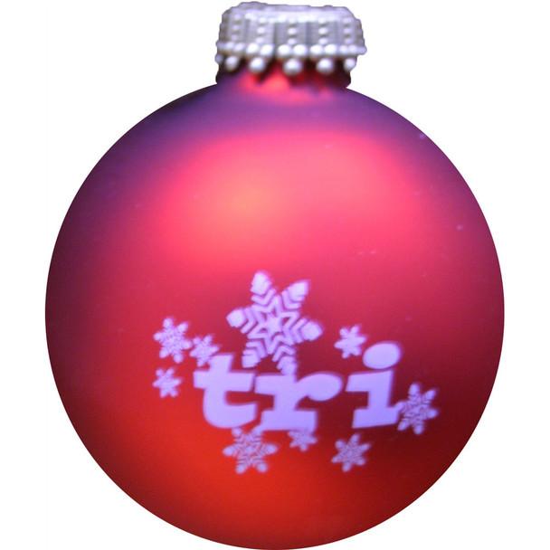 Tri Snowflake Christmas Ornament