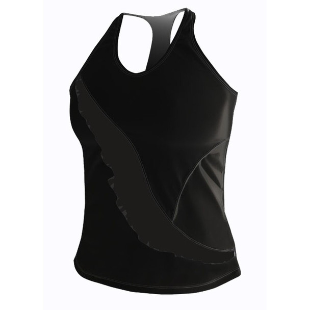 DeSoto Women's Carrera Ruffle Full Tri Top