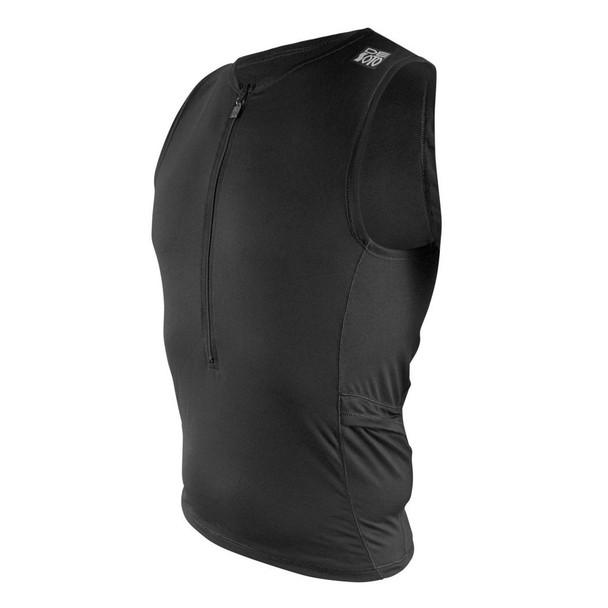 DeSoto Men's Skin Cooler Half Zip Tri Top - Black