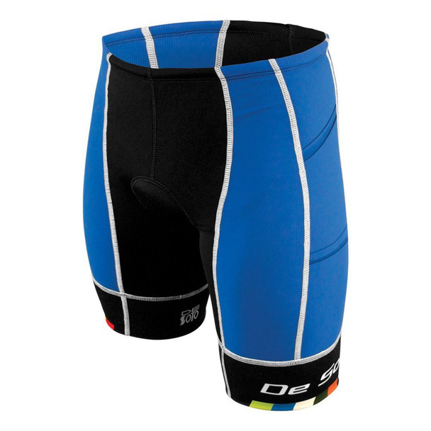 DeSoto Men's Forza 4-Pocket Tri Short - Blue