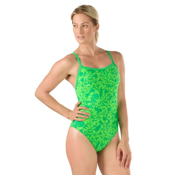 Speedo Women's Flowerista Flyback Swimsuit